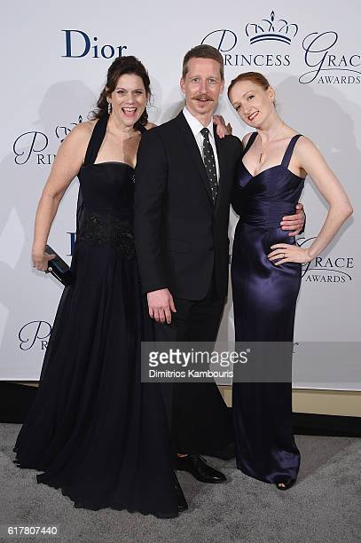 Executive Director at Princess Grace FoundationUSA Toby Boshak and dancers Ethan Stiefel and Gillian Murphy attend the 2016 Princess Grace Awards...