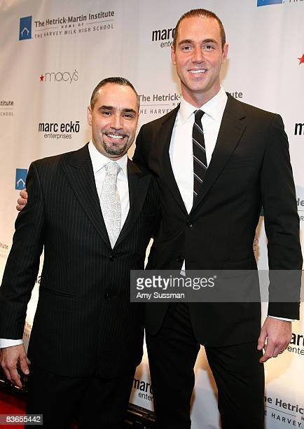 Executive Director at The HetrickMartin Institute Thomas Krever and event chair Rob Smith attend the 2008 Emery Awards at Cipriani on November 11...