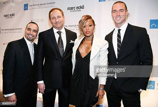 Executive Director at The HetrickMartin Institute Thomas Krever singer Eve MAC president John Dempsey and event chair Rob Smith attend the 2008 Emery...
