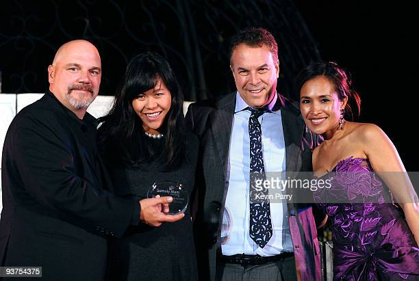 Executive director Bill Livermore Mei Sze Greene Jeff Greene and founder Somaly Mam attend the Somaly Mam Foundation's 2nd annual Los Angeles Gala...