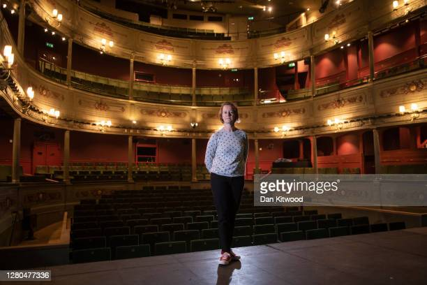 Executive Director Charlotte Geeves poses for a portrait at the Bristol Old Vic theatre on October 15, 2020 in Bristol, England. The theatre company...