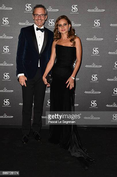 Executive Director Communication JaegerLeCoultre Laurent Vinay and Nelly Karim wearing a JaegerLeCoutre watch attends a gala dinner hosted by...