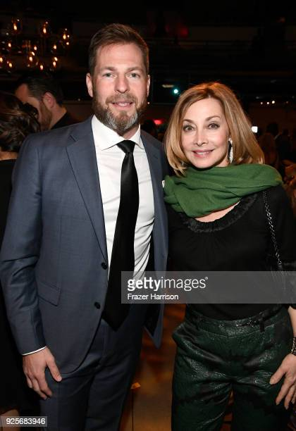 Executive Director EIN Brian Goldstein and Sharon Lawrence attend the 15th Annual Global Green Pre Oscar Party at NeueHouse Hollywood on February 28...