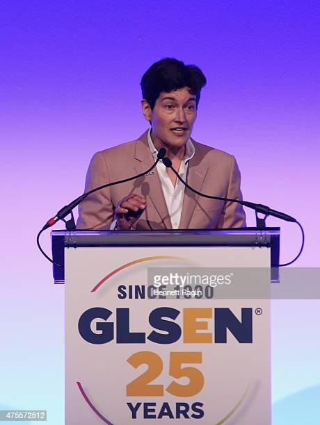 Executive Director Eliza Bayard attends 2015 GLSEN Respect Awards on June 1, 2015 in New York City.