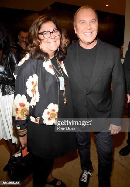CFDA executive director Fern Mallis and Michael Kors attend Vogue's Forces of Fashion Conference at Milk Studios on October 12 2017 in New York City
