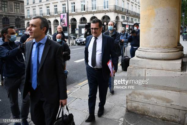 Executive Director General of the Professional French Football League Didier Quillot arrives on June 4 2020 to attend the hearing at the Council of...