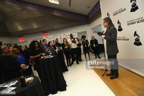 Executive Director GRAMMY Museum® Scott Goldman addresses GRAMMY CampJazz Session students at the GRAMMY Museum®'s ninth annual GRAMMY In The...