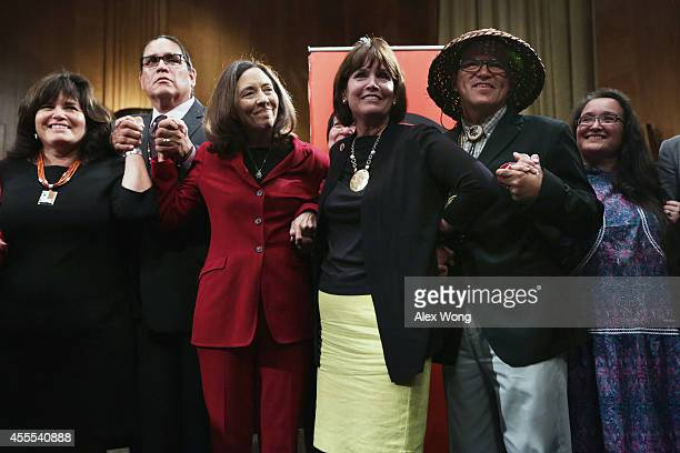 Executive Director Jacqueline Pata US Sen Maria Cantwell US Rep Betty McCollum National Congress of American Indians President Brian Cladoosby and...