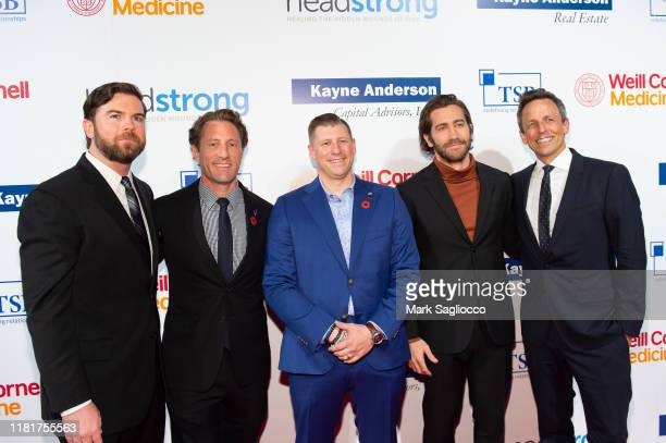 Executive Director Joe Quinn Zach Iscol Spencer Milo Jake Gyllenhaal and Seth Meyers attend the 7th Annual Headstrong Gala at Pier Sixty at Chelsea...
