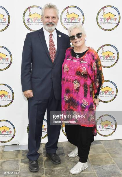 Executive Director Jonathan Zeichner and Founder Debrah Constance attend A Place Called Home's GirlPower Awards Luncheon at Skirball Cultural Center...