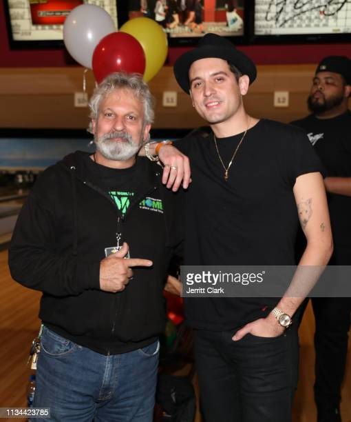 Executive Director Jonathan Zeichner and GEazy attend A Place Called Home's Annual Stars And Strikes Celebrity Bowling And Poker Tournament at PINZ...