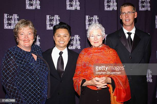 Executive Director Luann Boylan actor Alec Mapa Ellen DeGeneres' mother Betty DeGeneres and Executive Director Darryl Cumming attend the LA Gay and...