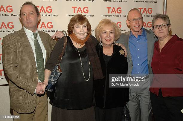 TAG Executive Director Mark Harrington Comedian Anne Meara Actress Doris Roberts TAG Board of Directors member Kevin Goetz and TAG Board of Directors...