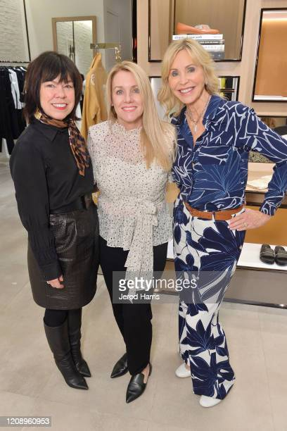 Executive Director Marketing South Coast Plaza Debra Gunn Downing Julie Adams and Patty Edward attend Lafayette 148 New York and Child Help South...