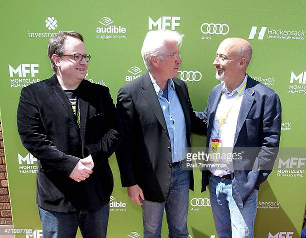 Executive Director MFF Tom Hall actor Richard Gere Chairman of the Board MFF Bob Feinberg attend the 2015 Monclair Film Festival In Conversation With...
