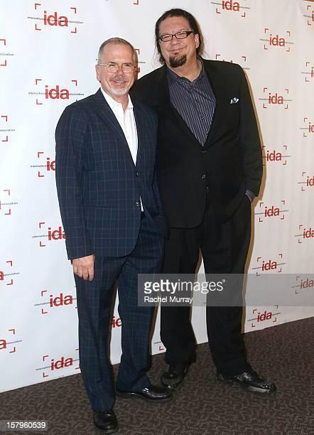 Executive Director Michael Lumpkin and Host Penn Jillette attend the International Documentary Association's 2012 IDA Documentary Awards at DGA...