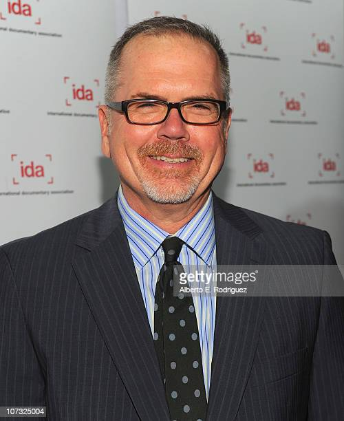 IDA executive director Michael Lupmkin arrives at the International Documentary Association's 26th annual awards ceremony at the Directors Guild Of...