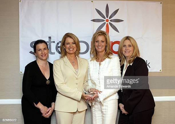 CAA Executive Director Michelle Kydd Lee Mary Hart Sandra Lee and Nancy Mendelson Gates pose backstage at the 2005 Step Up Women's Network...