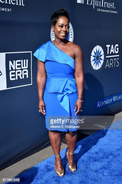 Executive Director Nichol Whiteman attends the Fourth Annual Los Angeles Dodgers Foundation Blue Diamond Gala at Dodger Stadium on June 11, 2018 in...