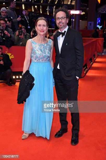 Executive Director of Berlinale Mariette Rissenbeek and Artistic Director of Berlinale Carlo Chatrian arrive for the closing ceremony of the 70th...