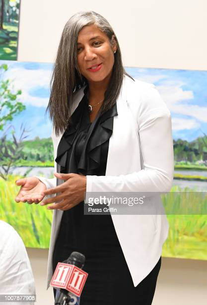 Executive Director of Bobbi Kristina Serenity House Dori Williams speaks onstage during Proclamation to Bobby Brown To Honor the Bobbi Kristina...