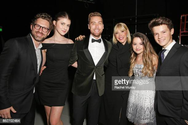 EMA Executive director of Business Development Asher Levin Brooke Butler Lance Bass EMA president Debbie Levin Annie LeBlanc and Hayden Summerall at...
