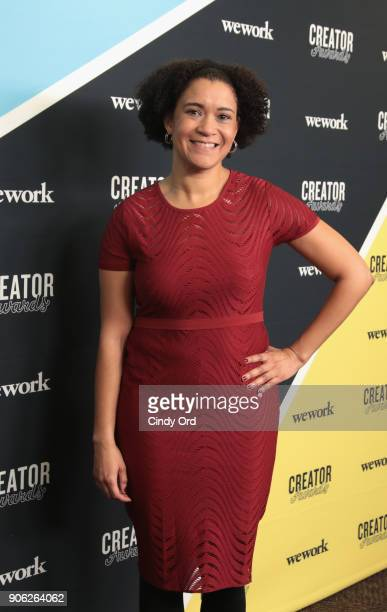 Executive Director of Byte Back Elizabeth Lindsey attends as WeWork presents Creator Awards Global Finals at the Theater At Madison Square Garden on...