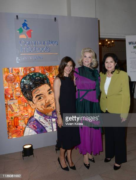Executive Director of Communities In Schools of Los Angeles Deborah Marcus Elaine Wynn and LA County Supervisor Hilda Solis attend Communities In...