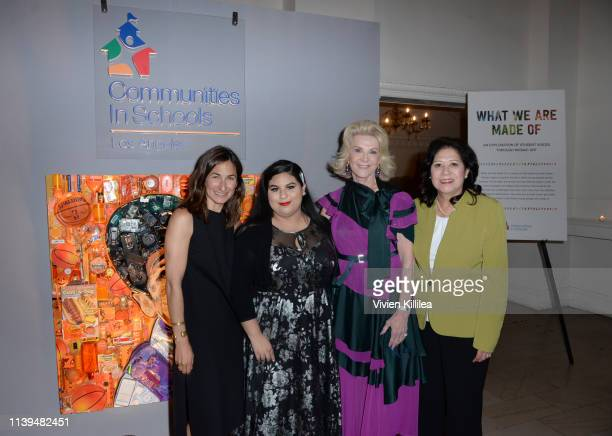 Executive Director of Communities In Schools of Los Angeles Deborah Marcus Anais Hernandez Elaine Wynn and LA County Supervisor Hilda Solis attend...