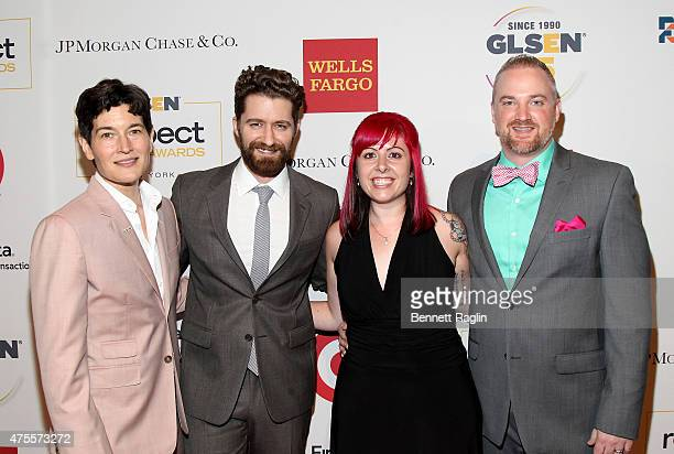 Executive Director of GLSEN Eliza Byard, Honoree Matthew Morrison, Honoree Desiree Raught and Jeremy Charmeco-Sullivan attend 2015 GLSEN Respect...