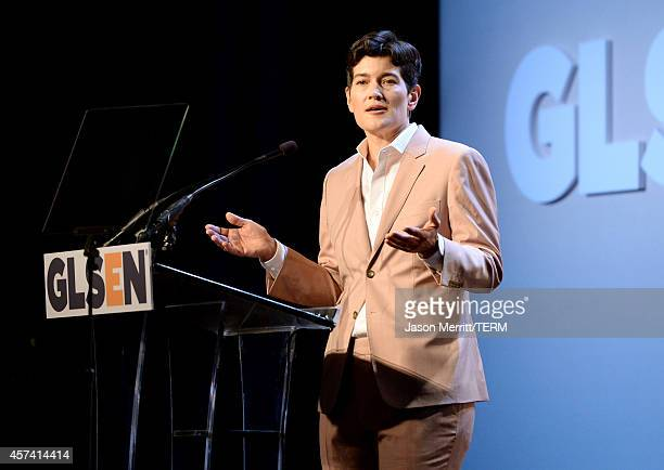 Executive Director of GSLEN Dr Eliza Byard speaks onstage at the 10th annual GLSEN Respect Awards at the Regent Beverly Wilshire Hotel on October 17...