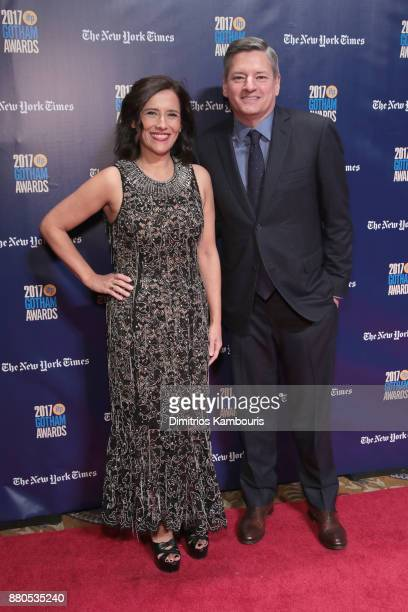 Executive director of IFP Joana Vincente and CCO of Netflix Ted Sarandos attends IFP's 27th Annual Gotham Independent Film Awards on November 27 2017...