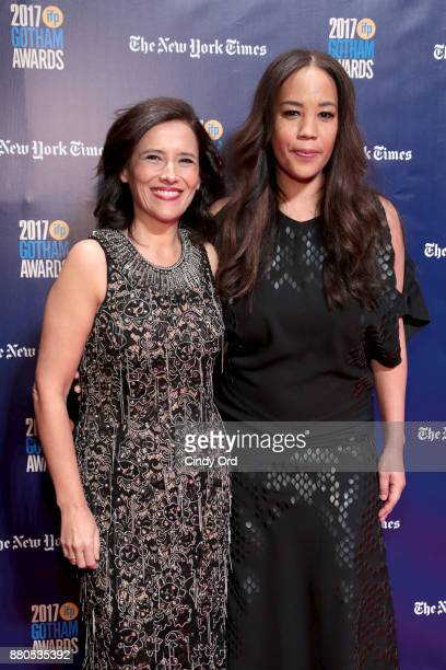Executive director of IFP Joana Vincente and Director Maggie Betts attend IFP's 27th Annual Gotham Independent Film Awards on November 27 2017 in New...