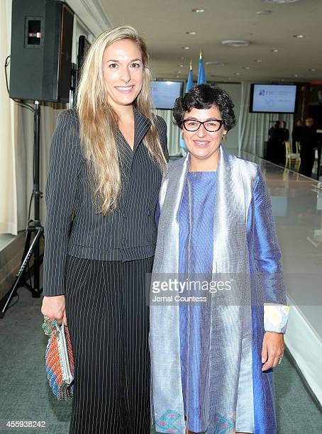 Executive Director of ITC Arancha Gonzalez and Creative Director of Malone Souliers Mary Alice Malone attend Women Empowering Women Luncheon And...