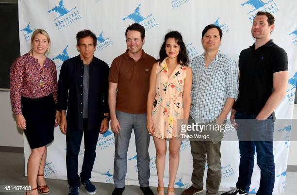 Executive director of Nantucket Film Festival Mystelle Brabbee and comedians Ben Stiller Jon C Daly Jenny Slate Michael Ian Black and Billy Eichner...