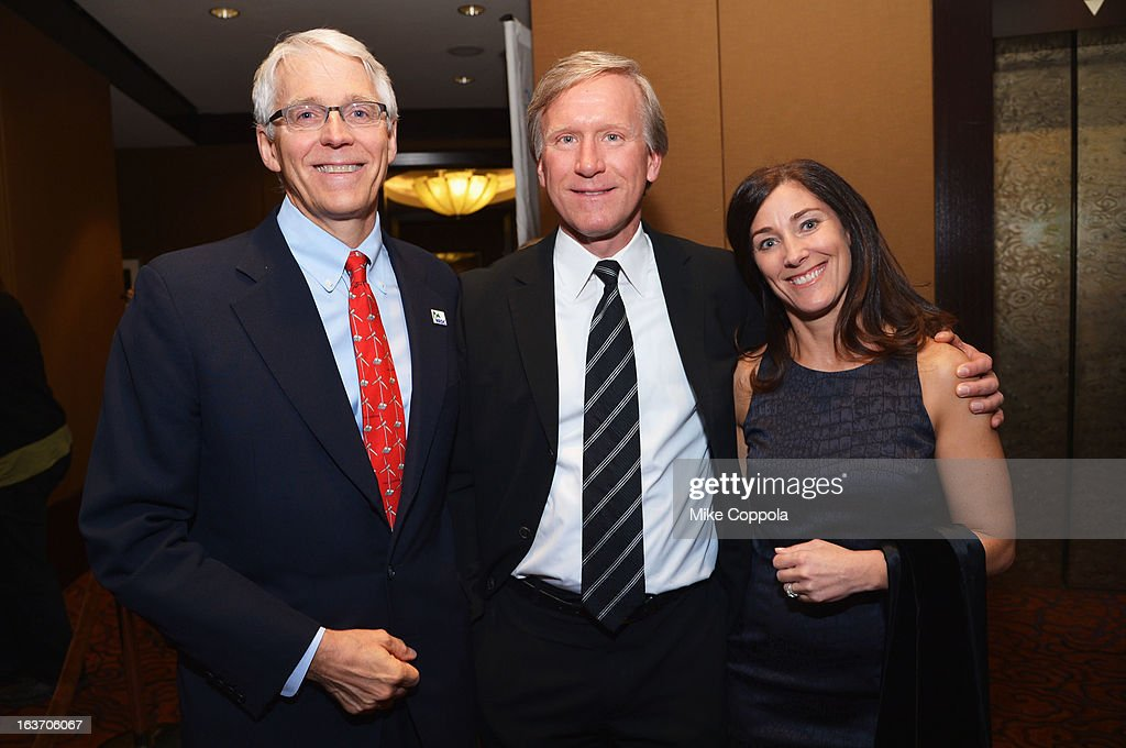 Executive director of NRDC Peter Lehner, Scott Jenkins, and guest attend the 2013 Natural Resources Defense Council Game Changer Awards at the Mandarin Oriental Hotel on March 14, 2013 in New York City.