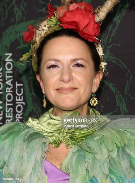 Executive Director of NYRP Deborah Marton attends Bette Midler's 2017 Hulaween event benefiting the New York Restoration Project at Cathedral of St...