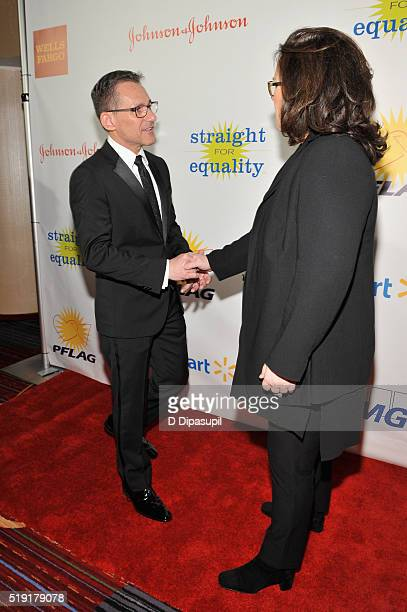 Executive director of PFLAG National Jody M Huckaby and actress Rosie O'Donnell attend PFLAG National's eighth annual Straight for Equality awards...