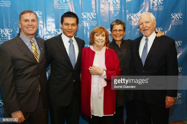 Executive Director of SAGE, Michael Adams, Anne Meara, Michael Nguyen Kate Clinton and James C. Hormel attend the 14th Annual SAGE Awards Gala at the...