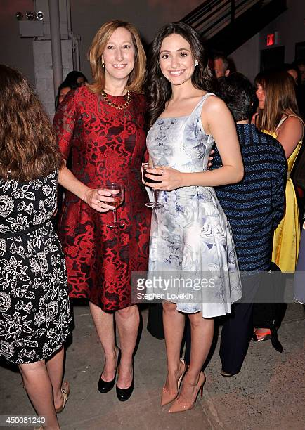 Executive director of Sundance Institude Keri Putman and actress Emmy Rossum attend the Sundance Institute New York Benefit 2014 at Stage 37 on June...