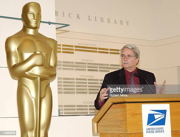Executive Director of the Academy of Motion Picture Arts and Sciences Bruce Davis speaks prior to the unveiling of the new 'American Filmmaking...
