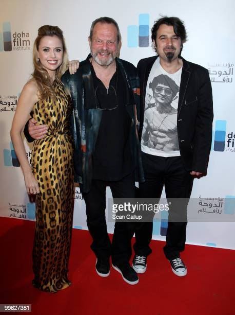 Executive Director of the Doha Film Institute Amanda Palmer director Terry Gilliam and director Scandar Copti attend the Doha Film Institute launch...