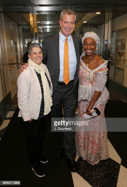 Executive Director of the Film Society of Lincoln Center Lesli Klainberg Mayor of New Yor City Bill DeBlasio and Founder of the New York African Film...