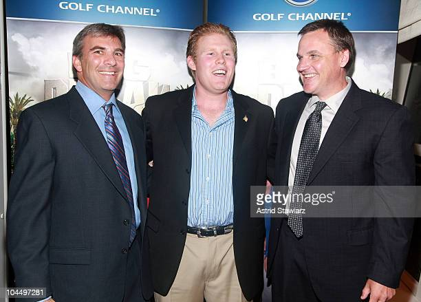 Executive director of The Golf Channel Original Productions Jay Kossoff Andrew Giuliani and Senior Director at Golf Channel Paul Schlegel attend the...