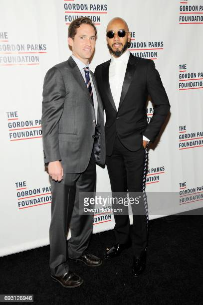 Executive Director of the Gordon Parks Foundation Peter Kunhardt Jr and Swizz Beatz attend the Gordon Parks Foundation Awards Dinner Auction at...