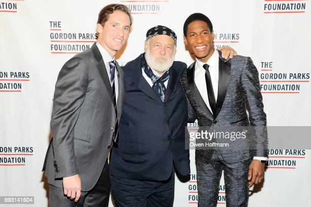 Executive Director of the Gordon Parks Foundation Peter Kunhardt Jr photographer Bruce Weber and musician Jon Batiste attend the Gordon Parks...