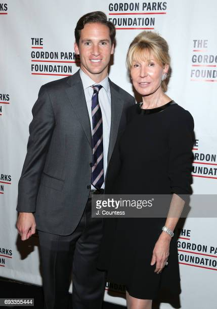 Executive Director of the Gordon Parks Foundation Peter Kunhardt Jr and Diana Reveson attend the 2017 Gordon Parks Foundation Awards Gala at Cipriani...