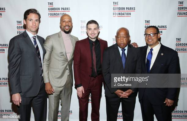 Executive Director of the Gordon Parks Foundation Peter Kunhardt Jr Common Alex Soros Congressman John Lewis and congressman Keith Ellison attends...