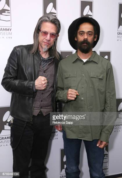 Executive Director of the GRAMMY Museum Scott Goldman and musician Damian 'Jr Gong' Marley attend A Conversation With Damian 'Jr Gong' Marley at The...