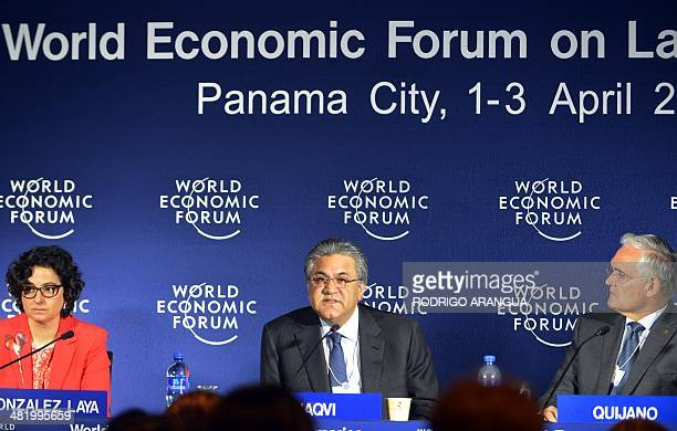 Executive Director of the International Trade Centre Arancha Gonzalez Founder and Group Chief Executive of The Abraaj Group Pakistani Arif Naqvi and...